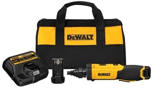 dewalt 8v max cordless screwdriver with conduit reamer, gyroscopic