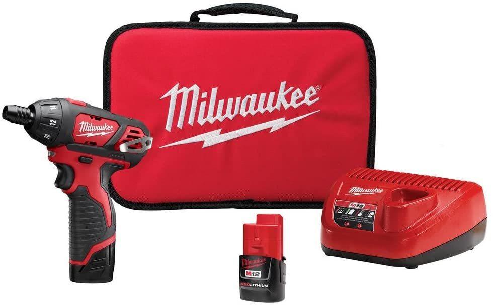 milwaukee 2401-22 M12 12-vold lithium cordless screwdriver kit